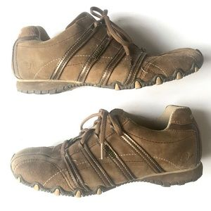 Sketchers Brown Leather Shoes